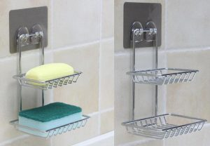 Double Layer Stainless Steel Soap Stand OS-565